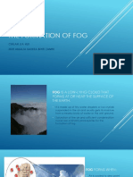 The Formation of Fog