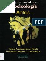 I Congreso Andaluz de Espeleología-FAE