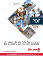 14 Reasons to Use Asta Powerproject