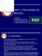 Unit 1 - The Science of Biology