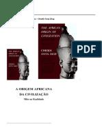 Cheikh Anta Diop - Origem Africana Da Civilização