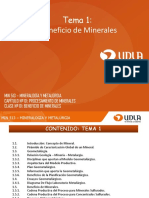 Mineralogía y metalúrgia
