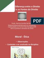 2-DiferencaentreoDireitoeaMoraleFontesdoDireito