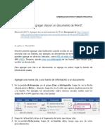 Agregar Citas en Un Documento de Word