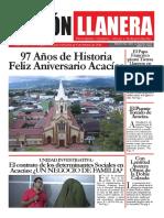 PERIÓDICO VISIÓN LLANERA . Edición impresa, homenaje al Cumpleaños de Acacías