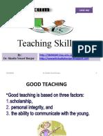 Teaching Skills by Dr. Shadia Yousef Banjar
