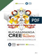 Convocatoria de Estímulos 2017 con Anexos