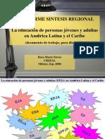EPJA en México Confintea VI