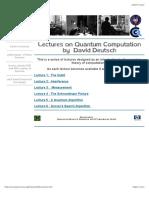David Deutsch Video Lectures