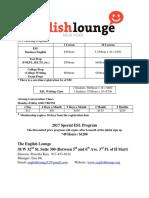 Korean Cultrure Center English Lounge Flyer Final Semester 24