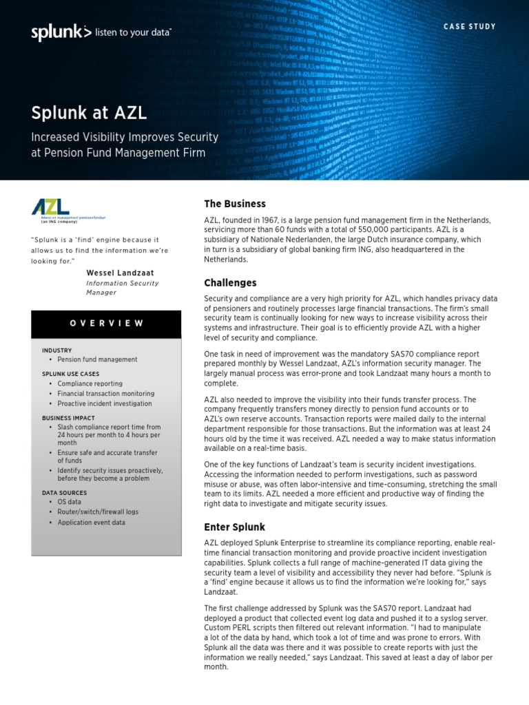 Splunk at Azl | Trademark | Ing Group