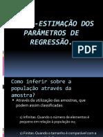 Estimação Dos Parâmetros.