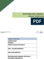 Sostenibilidad Urbana- Líneas Temáticas