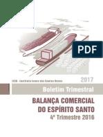 Balanca Comercial 4o Trim 2016