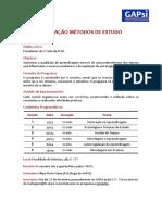 Programa Metodos Estudo 2016