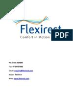Flexirest Adjustable Bed Base Product Info August 2010