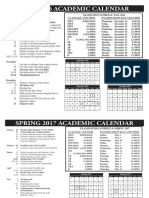 Academic Calendar 16-17