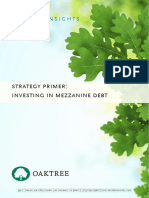 Oaktree Mezz Debt Primer