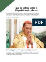 10 Cosas Que No Sabías Sobre El Cardenal Miguel Obando y Bravo