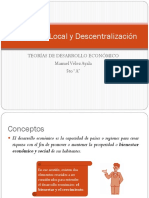 Desarrollo Local y Descentralización