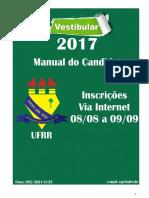 manual do candidato - vestibular ufrr 2017 atualizado.pdf