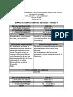 Diario de Campo Ciencias Sociales Grado 7