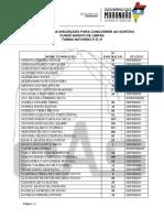 5 Resultado Das Inscrições Em Ordem Alfabetica - Turma Noturno 2ª e 4ª