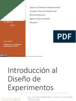 INTRODUCCION DISEÑO EXPERIMENTOS