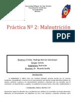 Práctica Nº2 Malnutrición