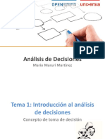 Tema 1_Introduccion Al Analisis de Decisiones