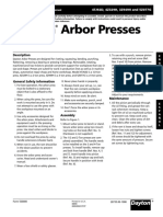 Dayton Arbor Presses Owners Manual