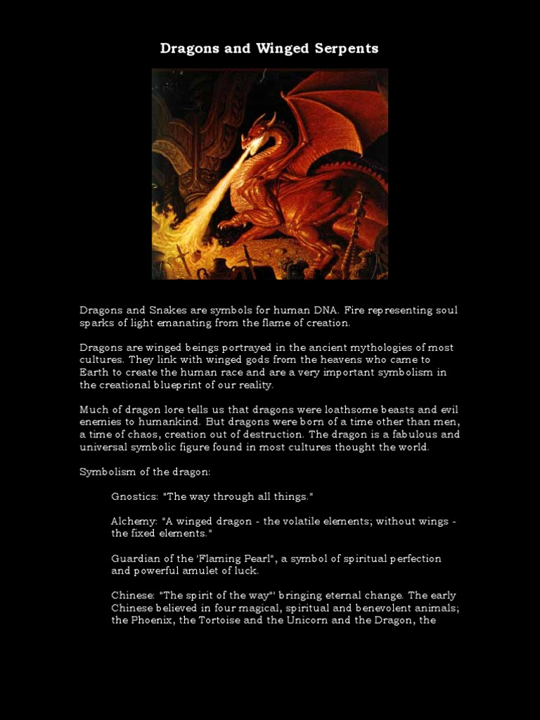 Dragons And Winged Serpents Dragon Egyptian Mythology