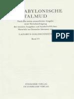 Der Babylonische Talmud Band 4