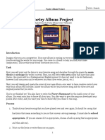 poetry album project
