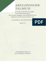 Der Babylonische Talmud Band 7