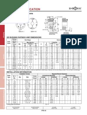 DODGE F X 1-3//8-KW BUSHING 120537