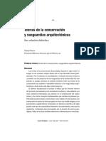 Teorias De La Conservacion Y Vanguardias Arquitectonicas