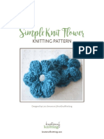 Simple Knit Flower Pattern Knotenufknitting