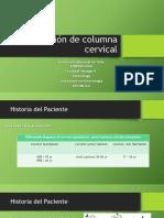 Evaluacion de Columna Cervical