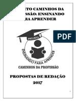 Propostas de Redação- Projeto Caminhos Da Profissão - 2017.1-1