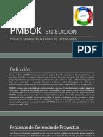 PMBOK  5ta EDICIÓN