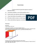 Geometria de Posição Exercício Comentado