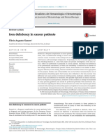 Iron deficiency in cancer patients