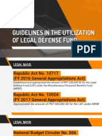 PPT Presentation Guidelines in the Utilization of Legal Defense Fund