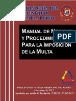 MANUAL DE NORMAS Y PROCEDIMIENTOS PARA LA IMPOSICIÓN DE MULTAS DE LA CONTRALORÍA DEL MUNICIPIO EULALIA BUROZ