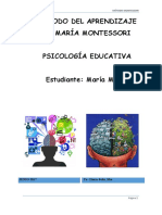 Ensayo Montessori
