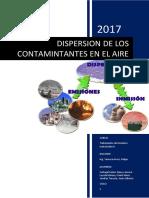 Dispersion de Los Contaminantes Del Aire