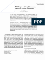 Critical Thinking as a Self-regulatory Process Component in Teaching and Learning (2010) (OK)