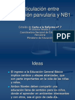 Articulacin Entre Educacin Parvularia y Nb1