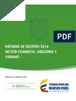 Informe de Gestion 2014 sector comercio industria y turismo